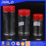 (100ml 200ml 210ml) contenitori di plastica liberi della spezia dell'animale domestico con la protezione del setaccio di vibrazione