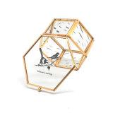 Caixa de jóias de vidro artesanal trabalhada Jb-1073