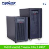 Emissor industrial digital de alta freqüência 10-20kVA Longo tempo de backup UPS