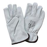 Перчатки подкладки зимы водителя работы кожи козочки теплые полные