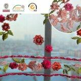 Buntes schönes Afrika-Spitze-Gewebe Red&Pink C10005