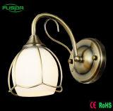 Lámpara de pared de cristal y cromo Bola de escalera LED de iluminación para la decoración del hogar