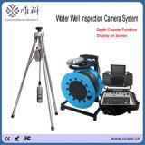 Waterproof a barra até 10 câmera Rotative da inspeção do poço de água da câmera do poço profundo de 360 graus com contador da profundidade