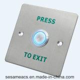 Edelstahl-Infrarotinduktion keine Needto Noten-Tür-Taste mit Hintergrundbeleuchtung (SB7-Squ)