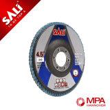 Disco abrasivo de la solapa del aluminio 115X22.2m m China del Zirconia para Inox