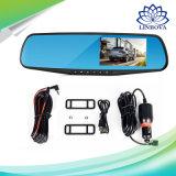 Автомобиль камеры автомобиля DVR E-Туза полный HD 1080P камкордер Registratory объектива видеозаписывающего устройства 4.3 цифров зеркала Rearview дюйма двойной