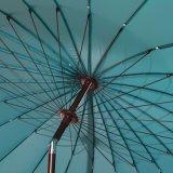 テラス8.5 ' 24本の鋼鉄肋骨が付いている円形パラソルのテラスの傘