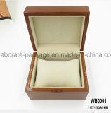 Caixa de embalagem de madeira da venda por atacado da caixa de relógio do revestimento Handmade simples do lustro