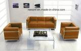 Canapé de bureau en cuir en acier inoxydable en meuble de bureau en attente (NS-2328A)