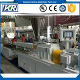 Überschüssiger Plastikaufbereitenbelüftung-Extruder/das konische Doppelschraubenzieher Plastik-Belüftung-Rohr, das Maschine/überschüssigen Plastikschrott bildet, bereiten TPE TPR TPU Unterwassergranulierer auf