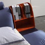 Het purpere Bed van de Stof van de Kleur voor het Gebruik van de Slaapkamer (FB8040A)