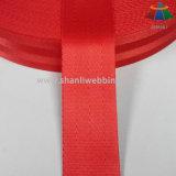 Het 4-paneel van 1.5 Duim de Rode Zachte Nylon Singelband van de Veiligheidsgordel