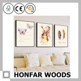 Frame de madeira preto moderno do poster da pintura para o quarto de convidado do hotel