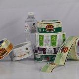 Escritura de la etiqueta modificada para requisitos particulares impresión de sellado caliente de la etiqueta engomada de la alta calidad para el embalaje de la bebida