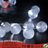 カラーによって変更されるOutddor LEDの暖かい白LEDの球のDecarationストリングライト