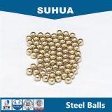 bola de cobre amarillo revestida G1000 de las bolas de acero del caucho sólido de 40m m