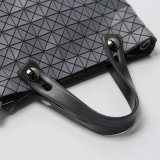 Graue Silikagel-rhombische Geometrie-Entwerfer-Handtasche (A047-1)