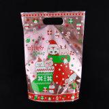Las bolsas de plástico de gran tamaño de las compras con el bolso del regalo del color de la insignia