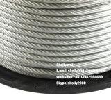 """3/8 """" (7X3.05mm) de costa de fio de aço galvanizada para o fio de indivíduo, mensageiro"""