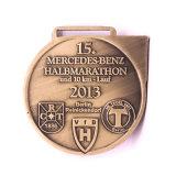 Medaglia corrente di maratona mezza d'argento antica del metallo di modo