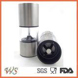 Ws-Pgs021 acero inoxidable Sal y Pimienta Molino Conjunto Mini tamaño del conjunto Grinder Manual