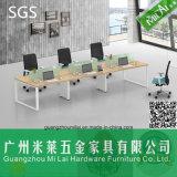 Muebles de oficinas de venta de la oficina del escritorio de la partición caliente de la oficina con los pies del acero inoxidable