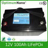 Bateria solar profunda do lítio LiFePO4 12V 100ah do ciclo
