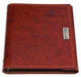 Impresión de cuero del cuaderno del papel de la PU/del Hardcover de Suply de la lechería/de la oficina