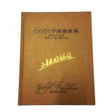 Impressão feita sob encomenda profissional do catálogo de produto do Hardcover com carimbo da folha