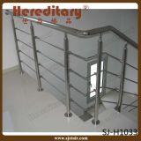 A balaustrada do aço inoxidável e da madeira na escada parte (SJ-616)