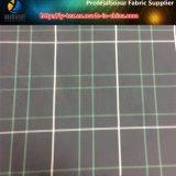 Blanco/Líneas Verdes, tela teñida hilado de tierra negro de la tela escocesa del poliester para la ropa (YD1175)