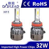 Super helles LED-Auto-Licht mit Ventilator 2800lm PFEILER Chip-Automobil-Scheinwerfer