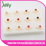 Diseño de los anillos de oro para los anillos de compromiso del oro de la muestra de las mujeres