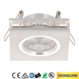 fuego ahuecado IP23 Downlight clasificado del cuadrado LED del techo de 3W LED