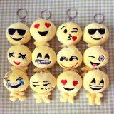 Emoji 10cm Stuk speelgoed Keychain van de Verkoop van de Pluche Heet Zacht Gevuld Grappig