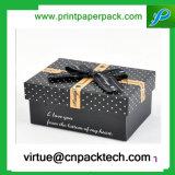 Contenitore di monili impaccante del vestito dal pattino di alta qualità del nero del regalo su ordinazione del documento