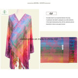 Madame chaude Pashmina Jacquard Shawl de mode de vente avec l'écharpe de Rose