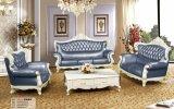 Canapé en cuir Royal Style 1 + 2 + 3, canapé classique d'Europe New (169)