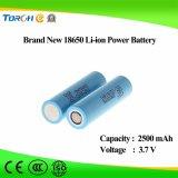 Горяче! Батарея лития 18650 Li-иона цены по прейскуранту завода-изготовителя 2500mAh 3.7V перезаряжаемые