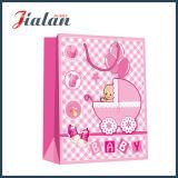 El diseño lindo de las ventas al por mayor modifica la bolsa de papel para requisitos particulares de empaquetado impresa insignia del bebé