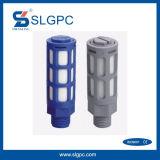 Gruppo di alimentazione blu di colore del silenziatore pneumatico di plastica del silenziatore