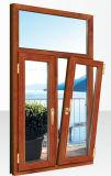 finestra di legno di alluminio di vetratura doppia di 5mm