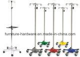 Muebles médicos Base de silla de cinco patas de aluminio para postes hospitalarios IV