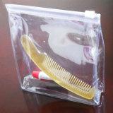 Bolso superior del cosmético del PVC del claro del cierre relámpago de encargo