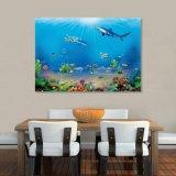 La peinture à l'huile estampée par jet d'encre du monde d'océan pour la décoration à la maison
