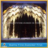 室内装飾、背景の壁のための自然な石造りの大理石の贅沢なオニックス