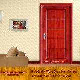 最新のデザイン単一の葉MDFのベニヤのドア(GSP8-001)