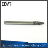 Couteau de broyeur à boulets d'acier de tungstène d'Edvt 50HRC 2flute