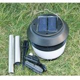 8PCS LEDの屋外の太陽エネルギーの景色はカ反発する携帯用Solar Energyキャンプランプの太陽ランタンライトが付いている庭の芝生ランプをつける