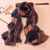 Lenço de seda impresso Paisley do algodão da forma das mulheres (YKY1143)